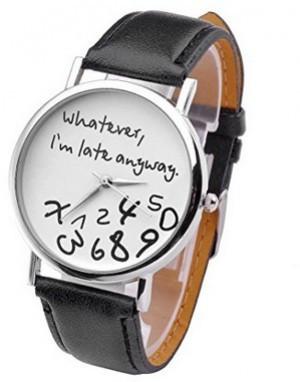 Uhr für notorische Zuspät-Kommer!