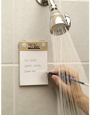 Notizblock für die Dusche!