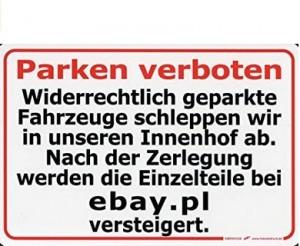 Lustiges Parken-Verboten-Schild!